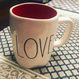 Rae Dunn Love Mug with Red Interior